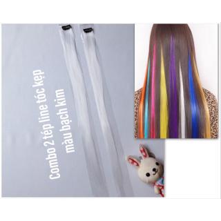 Combo 2 line tóc màu trắng tinh khôi- mỗi tép 3d có từ 80-100 sợi- mua 5 line tặng 1 line thumbnail