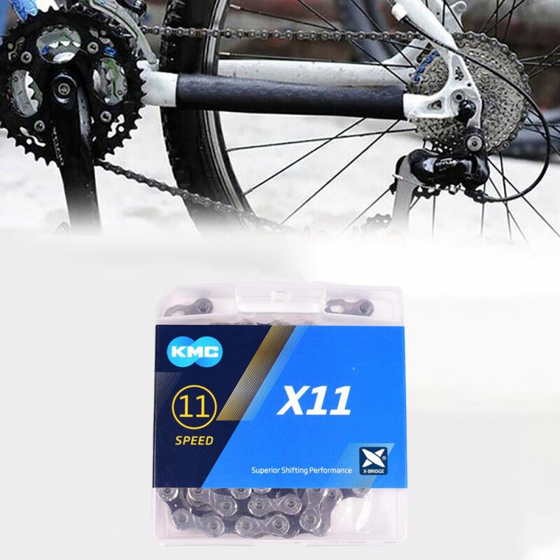 Phân phối Xích xe đạp KMC X11 Dây xích xe đạp 11 tốc độ 116L với hộp ban đầu và nút ma thuật cho các bộ phận xe đạp leo núi / xe đạp thanh