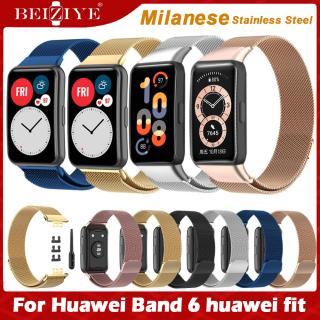 Dây đeo bằng thép không gỉ cho Huawei Band 6 Strap Huawei Watch Fit Band Milanese Magnetic Buckle cho huaweiwatch fit Vòng đeo tay thay thế Dây đeo kim loại thumbnail