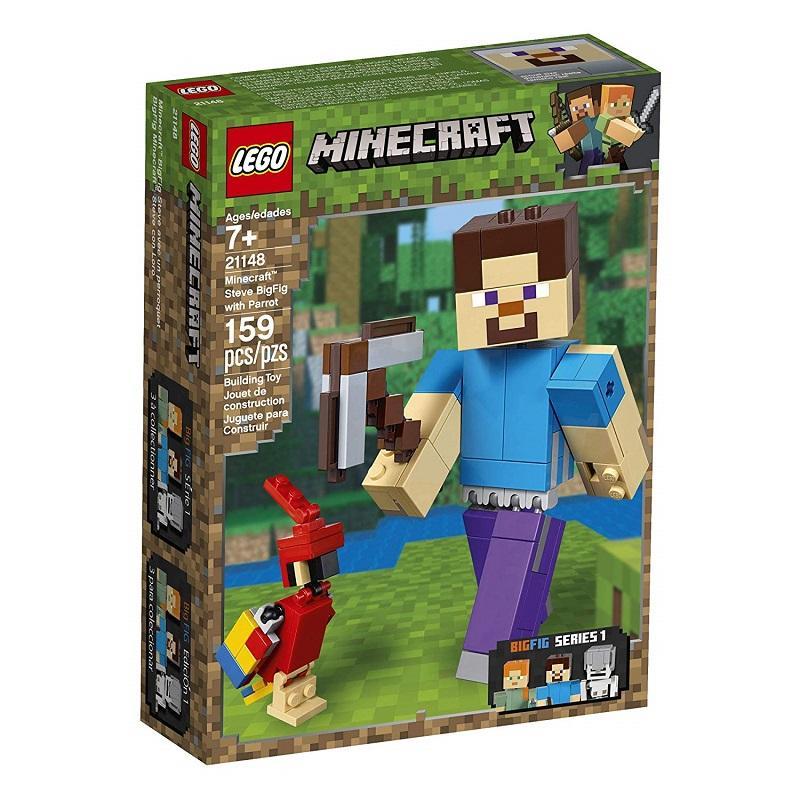 LEGO Minecraft Steve BigFig With Parrot 21148 – Steve Và Vẹt Siêu Giảm Giá