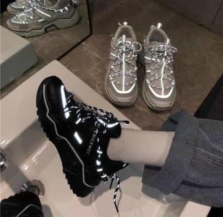 Giày nữ độn đế cao 5p , giày thể thao nữ , giày sneaker nữ phản quang hàng cao cấp giá siêu tốt