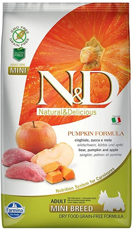 Farmina - N&D PUMPKIN DOG boar, apple mini adult 2.5kg