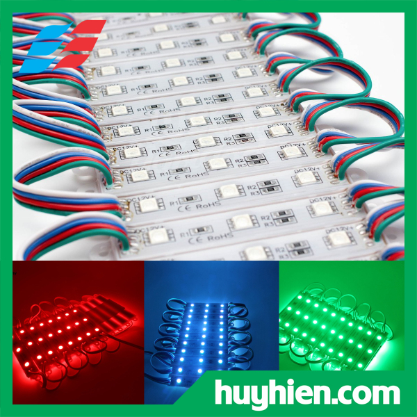 Bảng giá Led hắt 3 bóng 7 màu RGB 5050 kích thước 7512 ( vỉ 20 thanh)