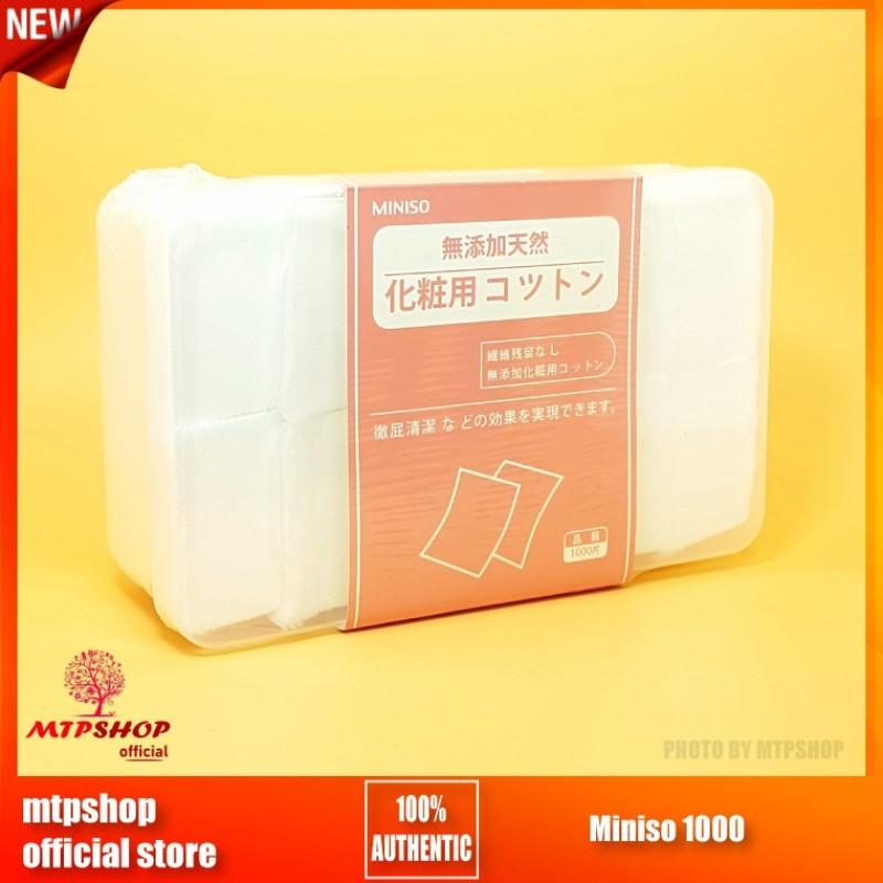 Hộp Bông Tẩy Trang Miniso 1000 Miếng – Nhật Bản nhập khẩu
