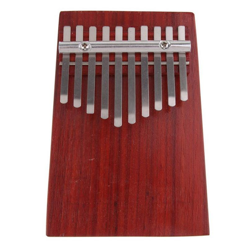 10 Keys Red Wood Mini Finger Piano Kalimba Thumb Traditional African Music Instruments Suitable for Beginners Advanced Players and Music Lovers