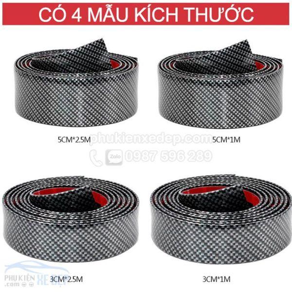Nẹp Carbon 5D Chống Va Đập Cốp Xe, Nẹp Bước Chân
