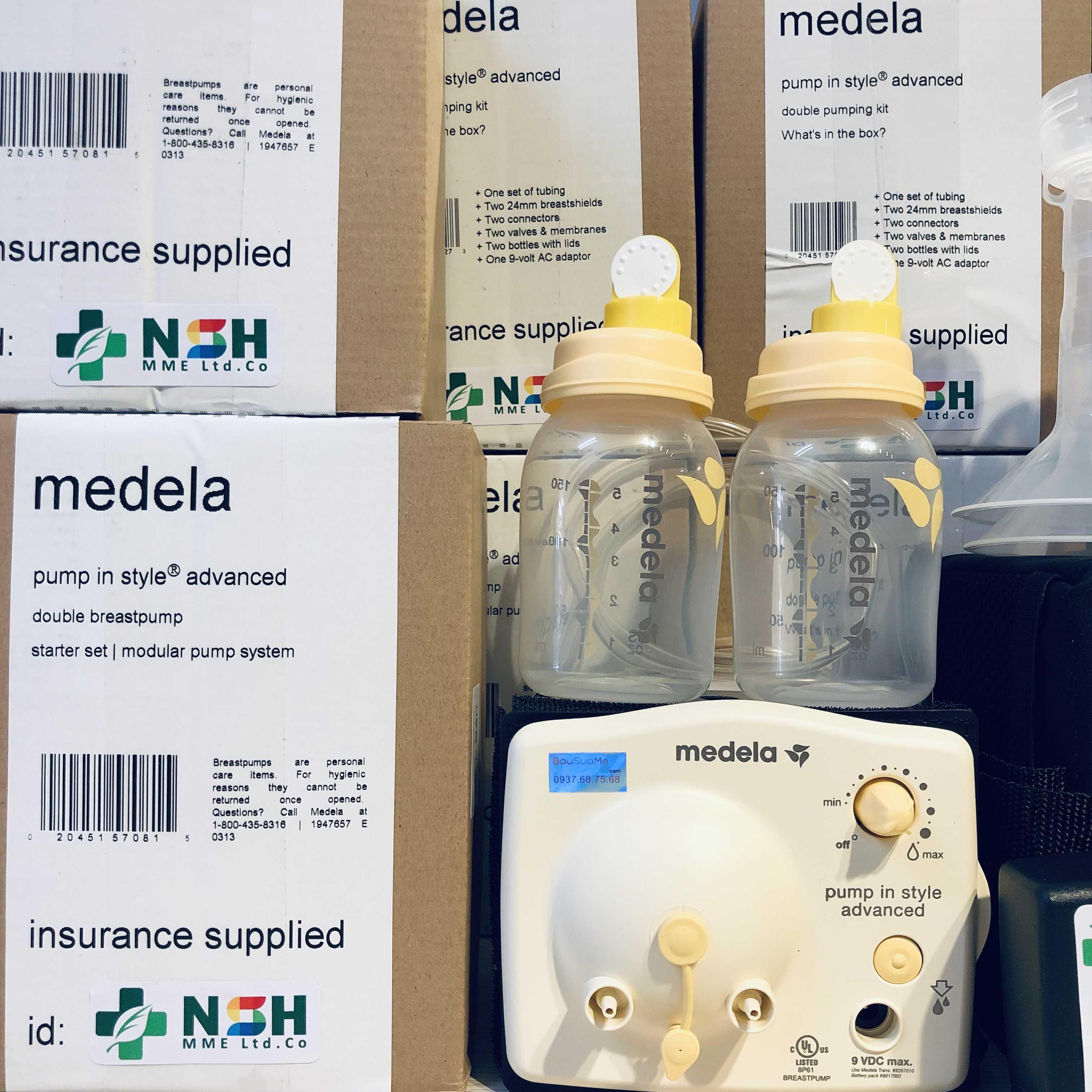 Máy hút sữa Medela Pump In Style Advanced rút gọn 2018 2019 new mới BH 12 THÁNG