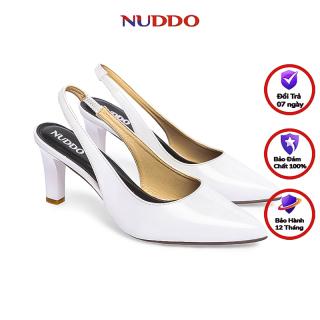 Giày Slingback cao gót nữ thời trang Nuddo gót 7cm nhọn quai co dãn thời trang thumbnail