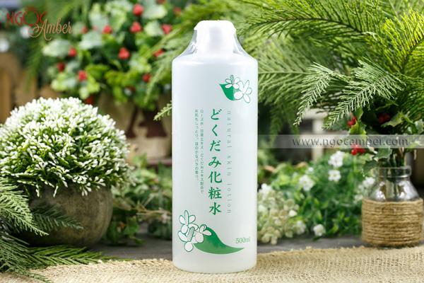 Nước hoa hồng tinh chất diếp cá Dokudami Natural Skin Lotion 500ml
