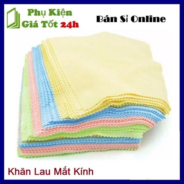 Giá bán ⚡ Combo 100 khăn lau kính chuyên dụng - Sét 100 Khăn Lau Mắt Kính Đa Năng ⚡