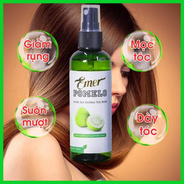 Xịt dưỡng tóc tinh dầu bưởi Pomelo 100ml giúp giảm rụng tóc, kích thích mọc tóc nhanh hơn
