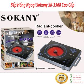 [Hàng nhập khẩu chất lượng cao] Bếp Điện Từ Sokany, Bếp Điện Từ Sokany SK-3568 - Công suất 2200W. Mặt kính chịu nhiệt - Dễ dàng vệ sinh - Đèn LED hiển thị - Tiết kiệm điện. Điều chỉnh bằng nút từ thông minh thumbnail