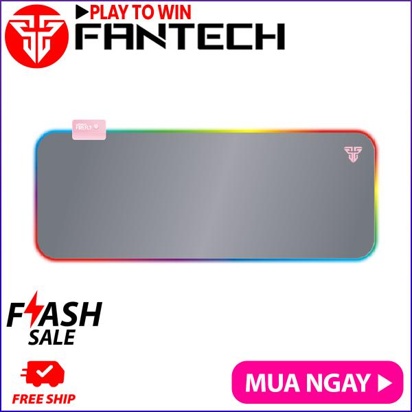 Đế Lót Di Chuột Gaming Fullsized Fantech MPR800s FIREFLY Viền LED RGB 7 Chế Độ Bề Mặt Láng Mịn Di Chuột Siêu Mượt Đế Cao Su Chống Trượt - Hãng Phân Phối Chính Thức
