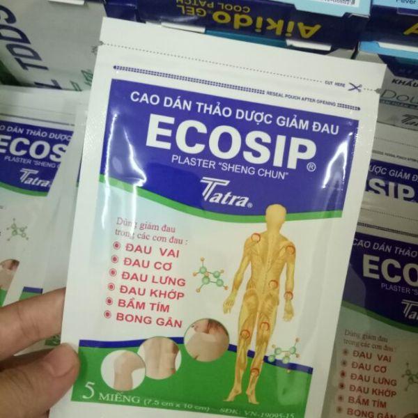Dán giảm đau ECOSIP gói 5 miếng