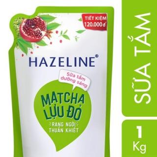 Sữa tắm Hazeline Lựu đỏ & Matcha (Xanh) Túi 1Kg thumbnail