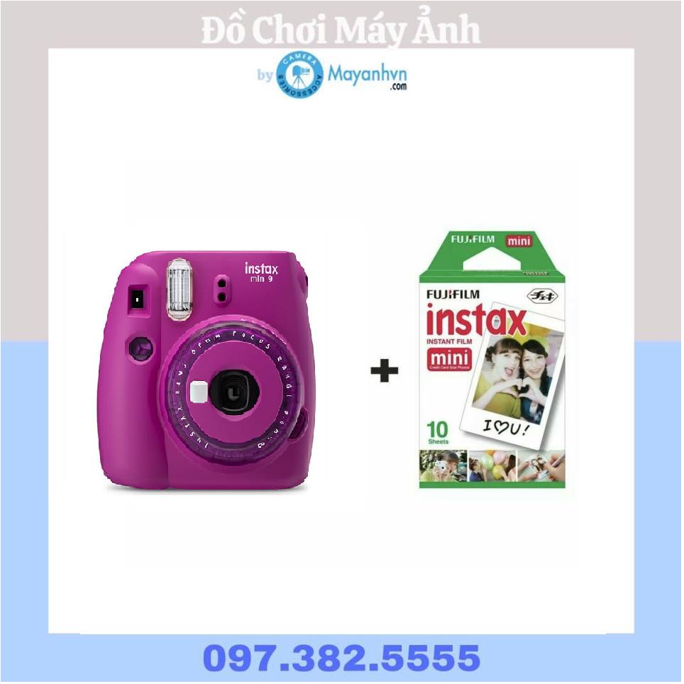 Máy chụp ảnh lấy ngay Fujifilm Instax Mini 9 Clear (Bảo hành 12 tháng) tặng kèm 1 pack film/10 tấm ảnh