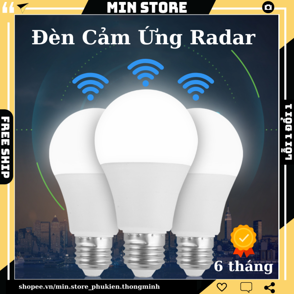Đèn LED Cảm Ứng Chuyển Động Radar - BH 6 Tháng - Tự Động Bật Khi Có Người - Chỉ Hoạt Động Khi Trời Tối - Min STORE