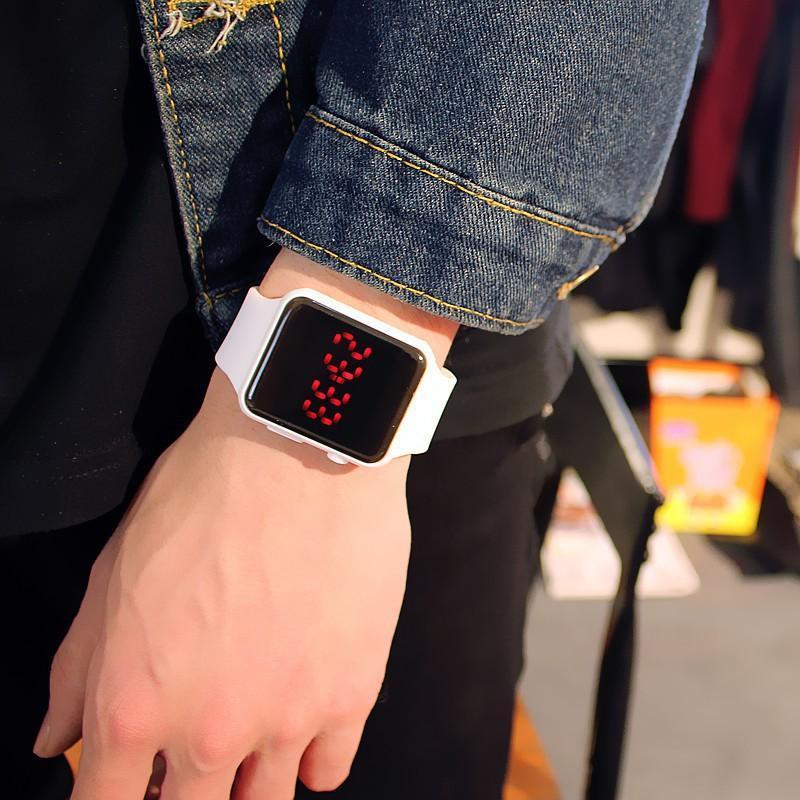 Đồng hồ thời trang Unisex AP Watch Led dây Cao Su bền bỉ có kháng nước - Bảo hành 1 tháng