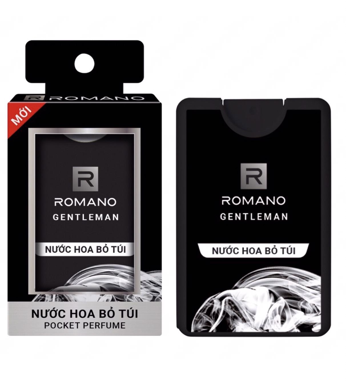 Nước hoa bỏ túi Romano chai 18ml (250 lần sử dụng) - đen