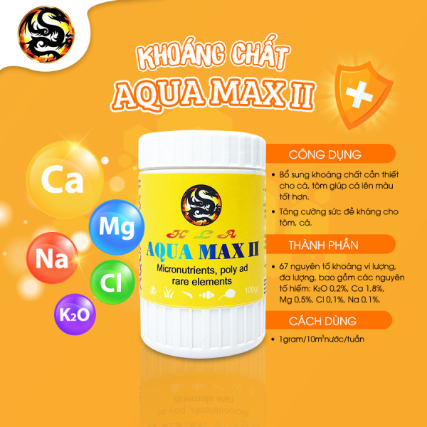 Khoáng Chất Cao Cấp Cho Cá Cảnh Aqua Max II - Dưỡng Chất Giúp Cá Sung, Đẹp, Khoẻ Mạnh