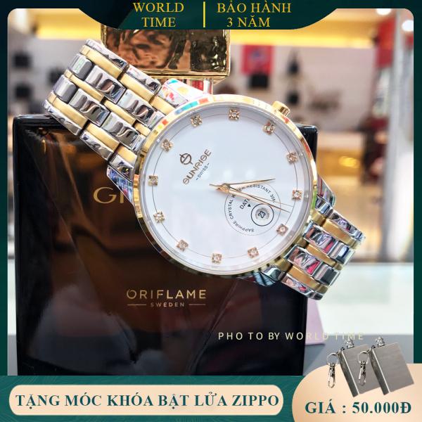 Đồng hồ nam Sunrise 1138SA Full Box, Thẻ BH 03 năm, Kính Sapphire Chống xước, Chống nước