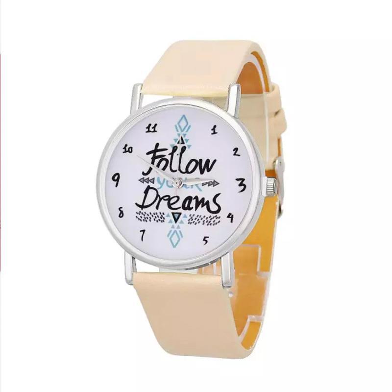Giá bán Đồng hồ bé gái Follow your dreams dây da cá tính – DH003