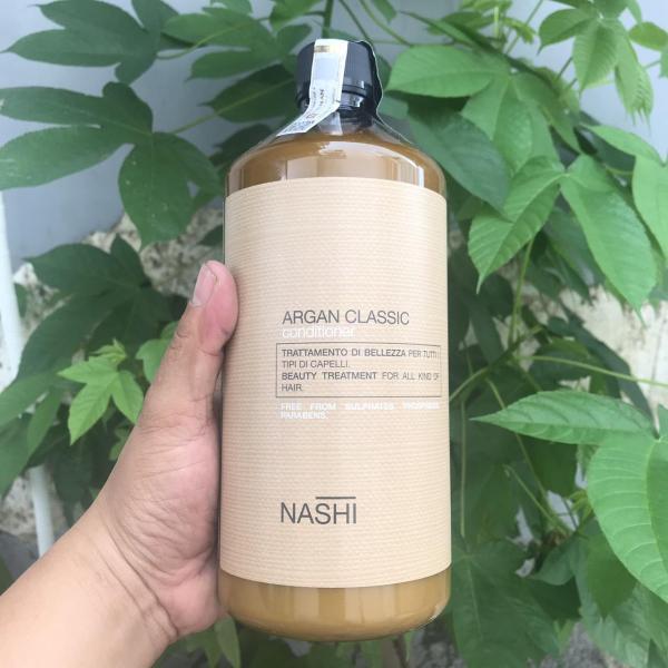 [Nashi-Italia] Dầu xả phục hồi tóc Nashi Argan Classic Conditioner 1000ml (Italia)