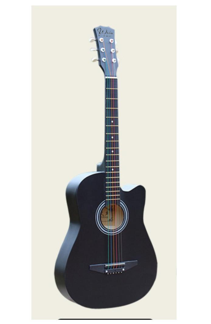 Đàn Guitar Gỗ Màu Đen Acoustic Dáng Khuyết Giá Tiết Kiệm Nhất Thị Trường