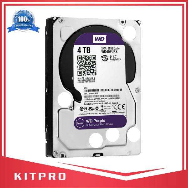 Bảng giá Ổ cứng 4TB WD PURPLE màu tím siêu bền chuyên dụng cho đầu thu camera - KITPRO Phong Vũ