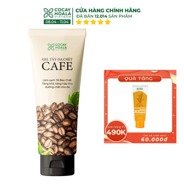 Gel tẩy da chết cà phê Cocayhoala dung tích 100g tẩy tế bào chết, làm sáng mịn da, se khít lỗ chân lông - Hàng chính hãng giá rẻ