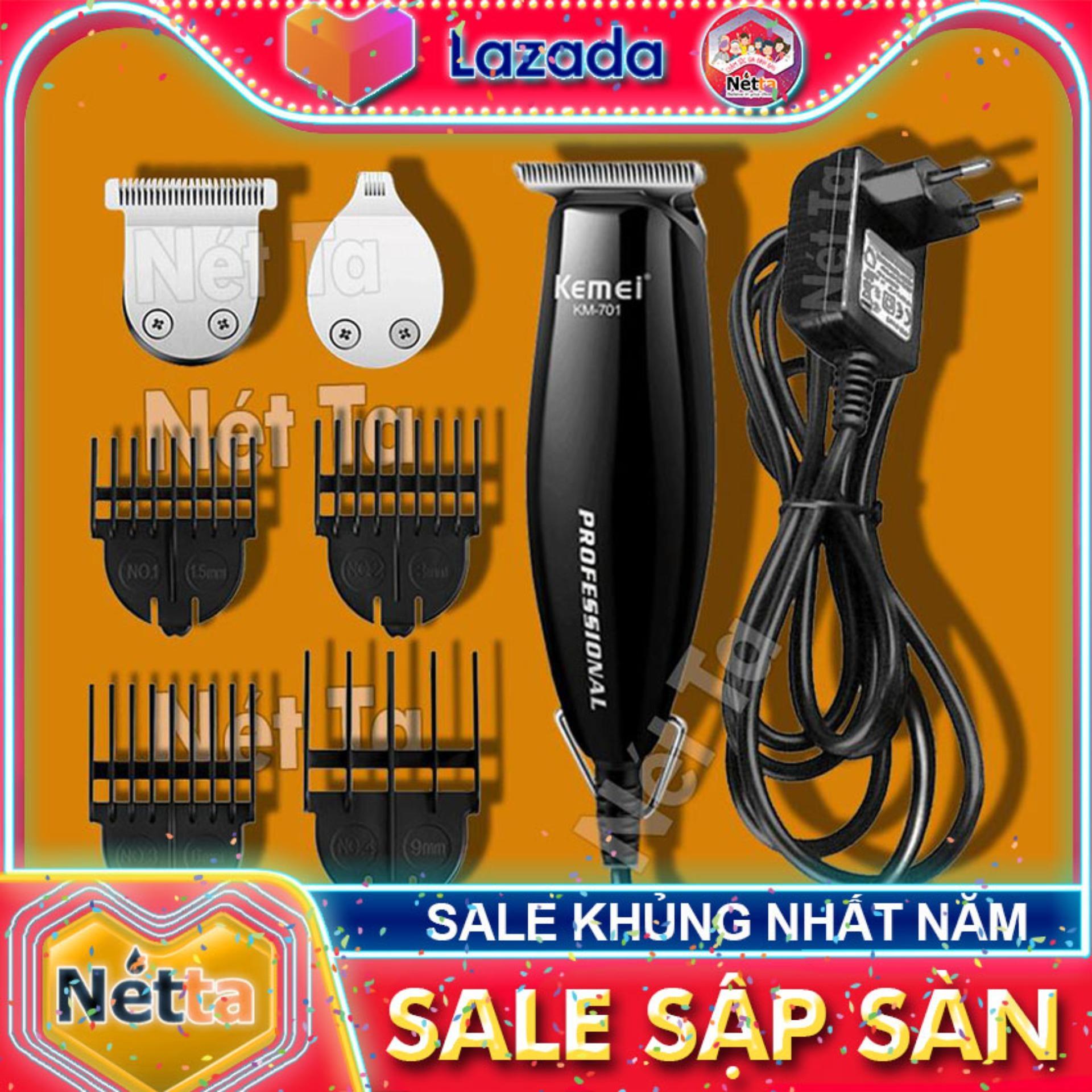 Tông đơ chắn viền đa năng 3in1 Kemei KM-701 chuyên dùng cho salon tạo kiểu tóc, tattto tóc, điêu khắc tóc, tông đơ 3 đầu thay thế có thể cắt tóc, tong do cat toc, tong do chan vien