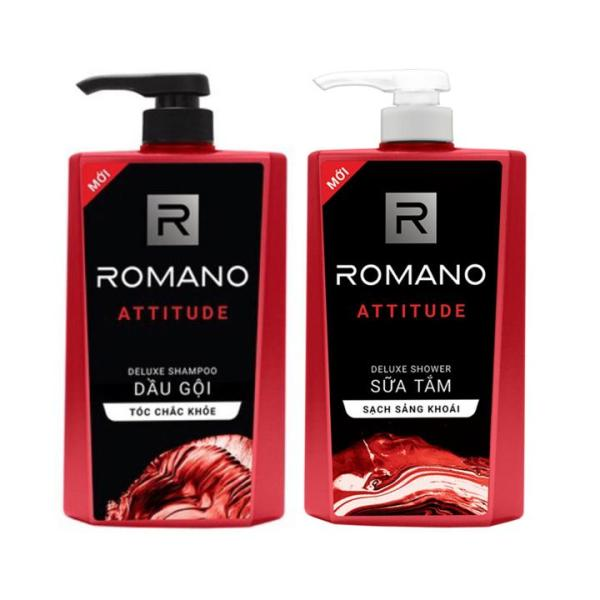Combo Romano Attitude: 1 chai Dầu Gội 650g + 1 chai Sữa tắm 650g cao cấp