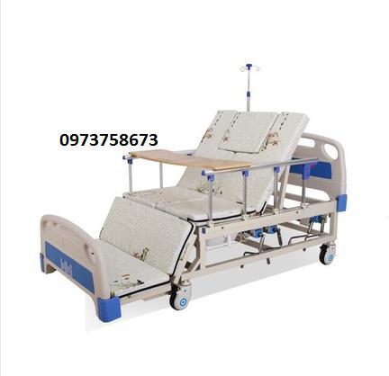 Giường y tế đầu nhựa đa năng 4 tay quay HL3 - Giường bệnh đa chức năng - Giường y tế nhập khẩu