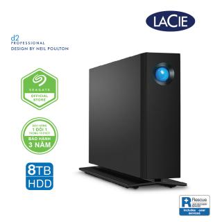 [Trả góp 0%]Ổ Cứng Để Bàn Lacie D2 Pro 8TB USB-C + Rescue Gói cứu dữ liệu STHA8000800 thumbnail