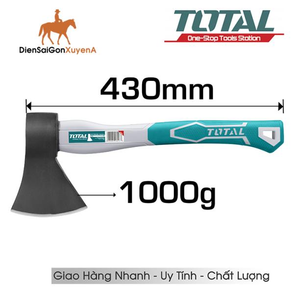 Búa Rìu Chặt Cây 1000Gr 43cm TOTAL THT7810006 - Điện Sài Gòn Xuyên Á