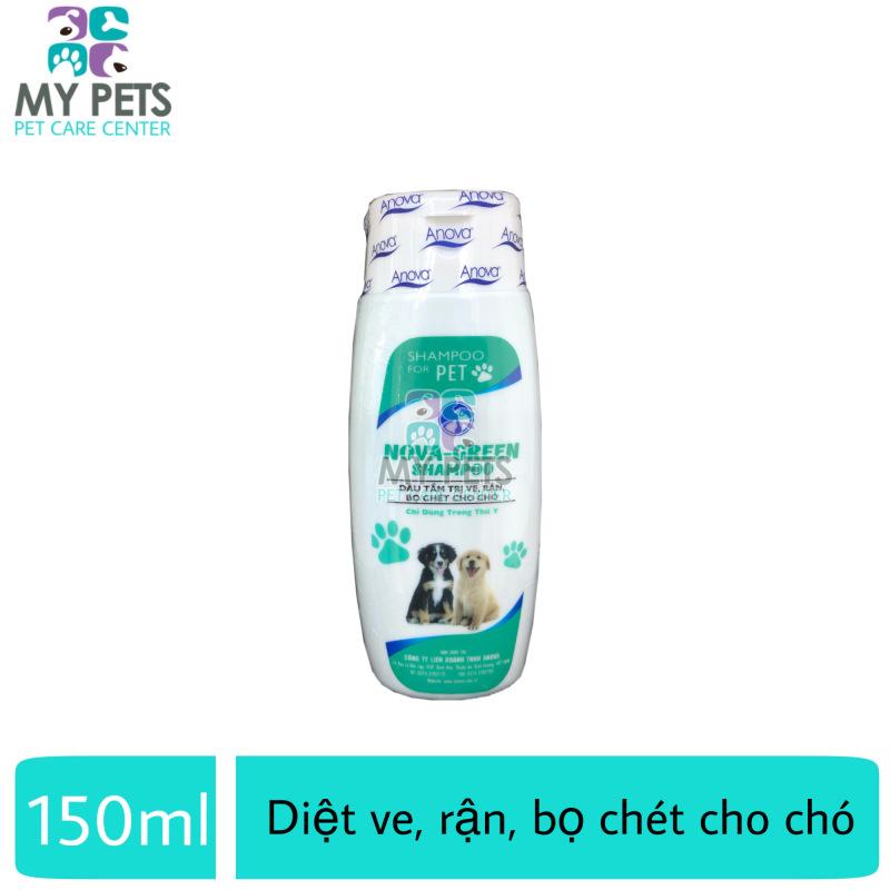 Sữa tắm ve ghẻ, bọ chét chó mèo - Anova Green 150ml