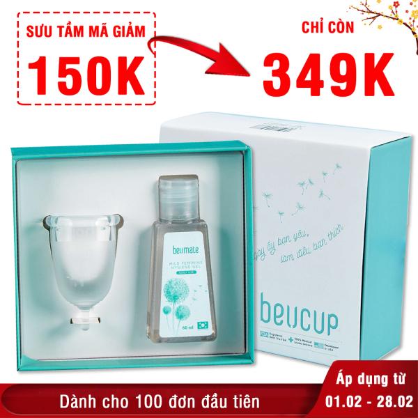 Cốc nguyệt san BeUcup Silicol y tế Waker Đức siêu mềm, đạt chuẩn FDA Hoa Kỳ An toàn Không kích ứng XP-CNS011
