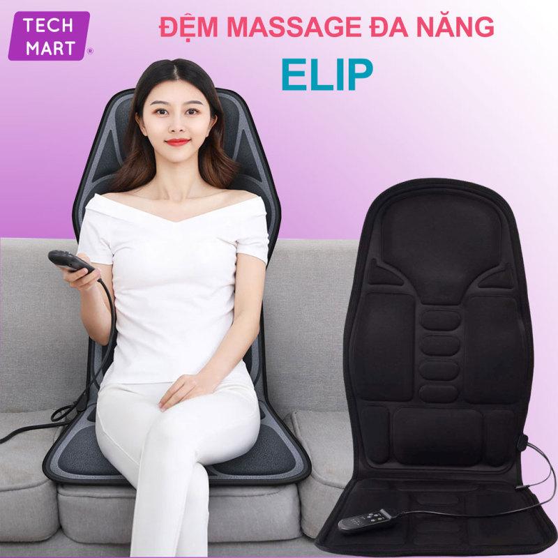 Nệm (Đệm) ghế massage toàn thân Elip - Ghế Mát Xa Đa Năng Toàn Thân giảm stress, lưu thông khí huyết, giảm đau nhức toàn cơ thể. bh 1 đổi 1