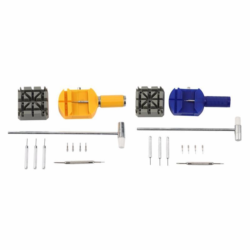 11Pcs/Kit Metal Watch Band & Bracelet Link Remover Repair Tool Repair Watch Band Belt Remover Tools Watch Accessories,Blue