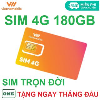 Sim 4G vietnamobile trọn đời có sẵn tháng đầu 180GB thumbnail