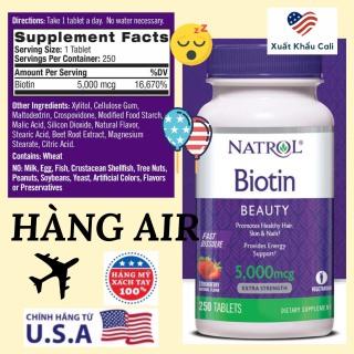 Natrol Biotin 5000 mcg 250 viên thumbnail