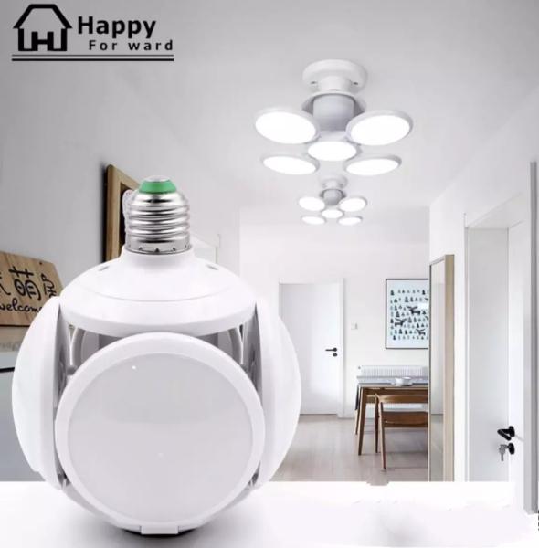 Đèn Led 40W 4 Cánh Football UFO Lamp - Đuôi E27 - Siêu Sáng - Tiết kiệm điện- Bảo Hành 1 Năm