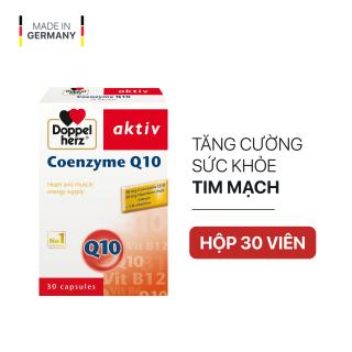 Viên uống bổ tim mạch, điều hòa huyết áp Doppelherz Aktiv Coenzyme Q10 (Hộp 30 viên) thumbnail