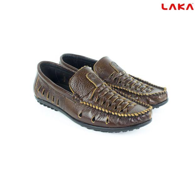 Giày lười nam da bò thật LAKA 110 giá rẻ
