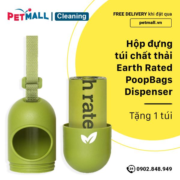 Hộp đựng túi chất thải Earth Rated PoopBags Dispenser - tặng 1 túi