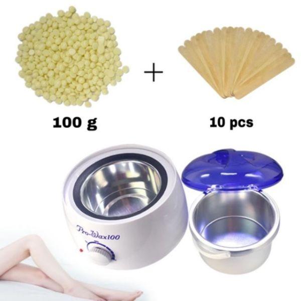 Nồi nấu sáp wax nóng tẩy lông triệt lông máy nấu sáp pro wax 100 siêu tiên lợi Thiết bị nấu sáp wax nóng tẩy lông