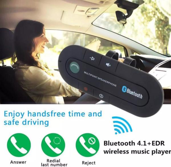Visor Car Kit Bluetooth Loa rảnh tay Điện thoại 5.0 Bluetooth Cuộc gọi trên ô tô Bộ thu Bluetooth Máy nghe nhạc