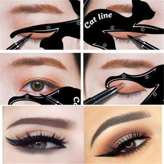 Sét 2 Khuôn Vẽ Mắt Cat Line, Kẻ Mắt Siêu Dễ Dàng thumbnail