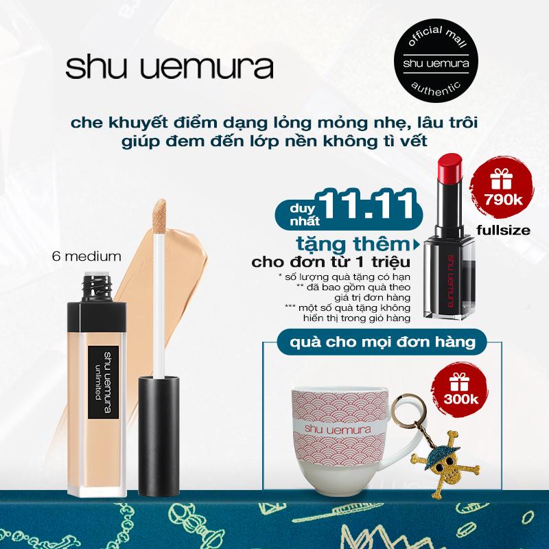che khuyết điểm mỏng nhẹ chuẩn bền shu uemura unlimited concealer 7ml