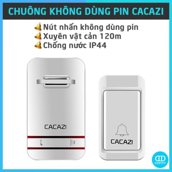 Chuông Cửa CACAZI V027M Chính Hãng, Nút Nhấn Cơ Không Dùng Pin, Kháng Nước Bụi (BH 12 Tháng)